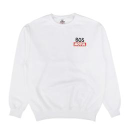 BOS Charles Crewneck Sweatshirt White
