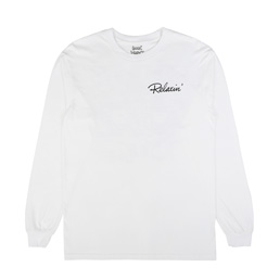 Book Works Relaxin' L/S T-Shirt White