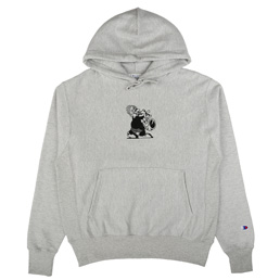 Book Works Sax Man Hoody Heather Grey