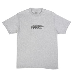 Book Works Record Logo S/S T-Shirt Grey