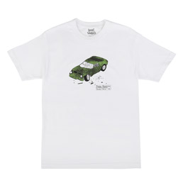 Book Works Miles Crash S/S T-Shirt White