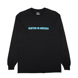 Book Works Winter In America L/S T-Shirt Black