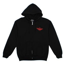 Best Wishes Skull Wing Hoodie Black