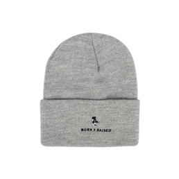 Born x Raised Lacrosse Beanie Grey