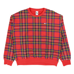 Nike x NRG Crew Plaid Swoosh Stripe - Uni Red