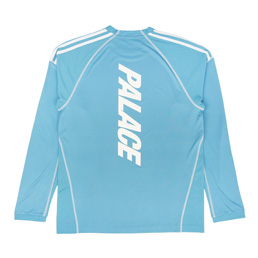 Adidas x Palace L/S T-Shirt Blanch Sea/White