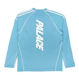 Adidas x Palace L/S T-Shirt Blanch Sea/White