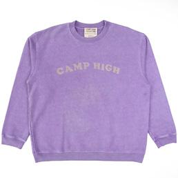 Camp High Chain Stitch Sweat Lavendar