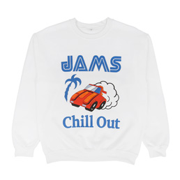 Chill Out Passing Breeze LS Crew White