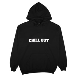 Chill Out Logo Hoodie Black