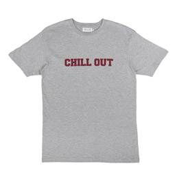 Chill Out Big Logo T-Shirt Grey/ Maroon