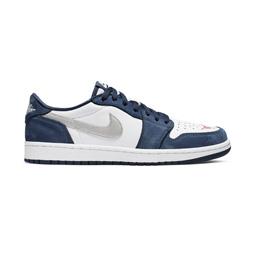 Nike SB Air Jordan 1 Low QS- Midnight Navy/Silver