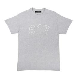 Call Me 917 Block T-Shirt Heather Grey