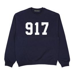 Call Me 917 Varsity Applique Sweatshirt Navy