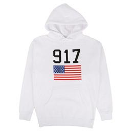 Call Me 917 USA Hooded Sweatshirt White