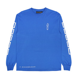 Call Me 917 Coffee L/S T-Shirt Blue