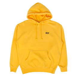 Call Me 917 Area Code Pullover Hood Yellow