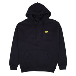 Call Me 917 Area Code Pullover Hood Navy
