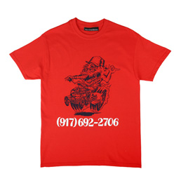 Call Me 917 Skate Rat T-Shirt Red