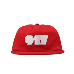 Call Me 917 Typography Hat Red