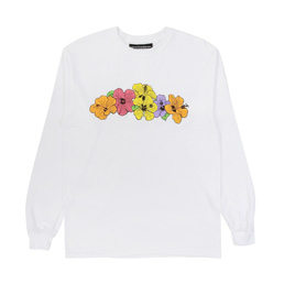 Call Me 917 Hibiscus L/S T-Shirt White