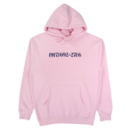 Call Me 917 Dialtone Pullover Hoodie Pink