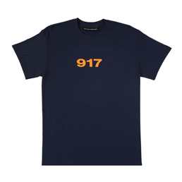 Call me 917 Block Logo T-Shirt - Navy