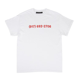 Call Me 917 Dialtone Tee - White