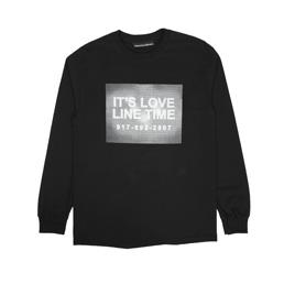 Call Me 917 Love Line L/S Tee Black