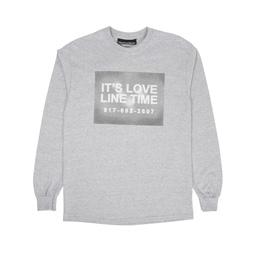 Call Me 917 Love Line L/S Tee Heather Grey