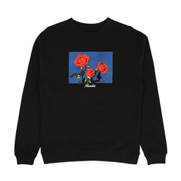 PARADIS3 Roses Crew Black