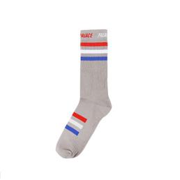 Adidas x Palace Socks Grey/ Red