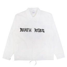 Death Rites Peace Be With You Coach Jacket - White