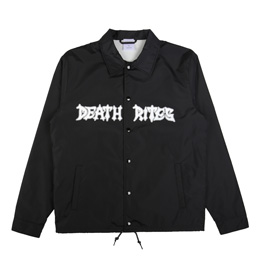 Death Rites Peace Be With You Coach Jacket - Black