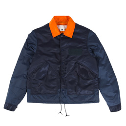 Ganryu Taffeta Twill Coach Jacket Navy