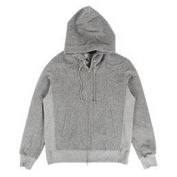 Ganryu Hooded Pile Sweat Grey