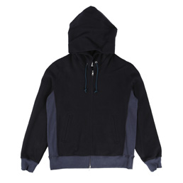 Ganryu Hooded Pile Sweat Navy