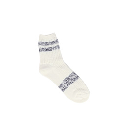 Ganryu Stripe Socks White/ Navy