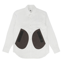 Ganryu Pocket Dress Shirt - White