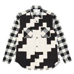 Ganryu Buffalo Check Flannel Shirt - Off White