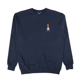 QS Embroidered Snackman Crew Navy