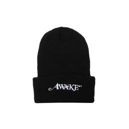 Awake Loose Gauge Classic Logo Beanie - Black