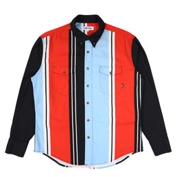 FA Printed Western Shirt - Black/Red/Blue/White