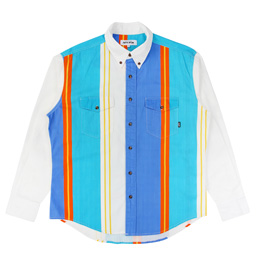 FA Printed Western Shirt - Wht/Blu/Teal/Orange