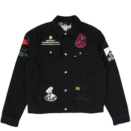 FA Sponsored Rodeo Jacket - Black/Yellow