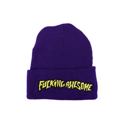 FA Outline Yellow Beanie Purple