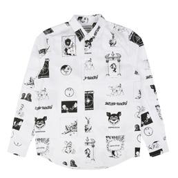 FA Cut Outs Dress Shirt White/Black