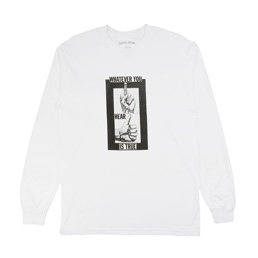 FA Fingers Up L/S T-Shirt White