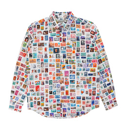 FA Stamps Dress Shirt White/Multi