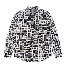 FA Stamps Dress Shirt White/Black